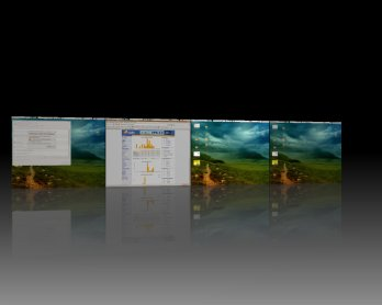Compiz Fusion Desktop Auswahl