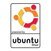 powered by Ubuntu Sticker Pic