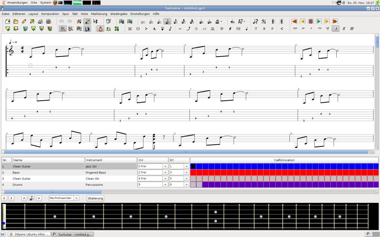 Tuxguitar Screenshot