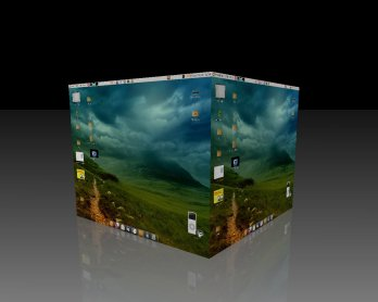 Compiz Fusion Cube Reflection
