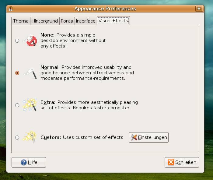 Desktop Effekte