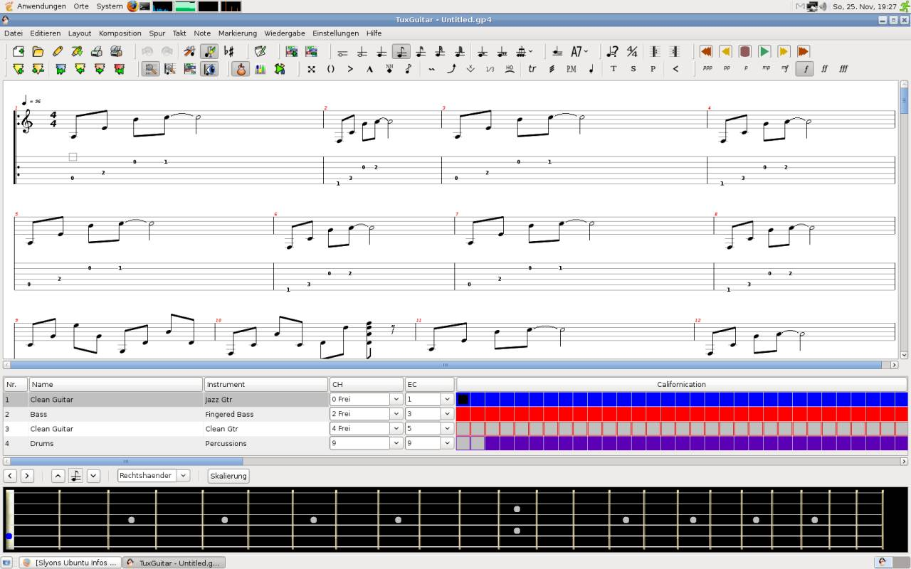 Tuxguitar Screenshot