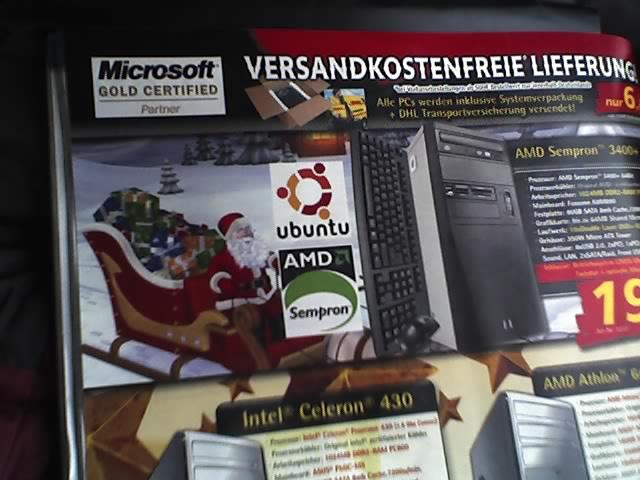 Ubuntu Anzeige in Computerbild